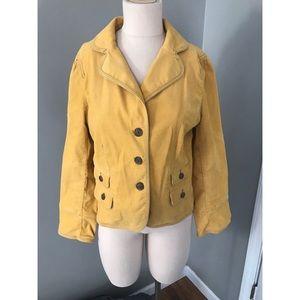 LOFT Mustard Yellow Corduroy Jacket Blazer 12